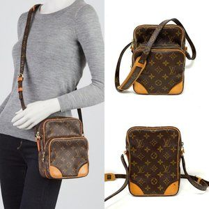 Auth Louis Vuitton Monogram Amazone Crossbody Bag